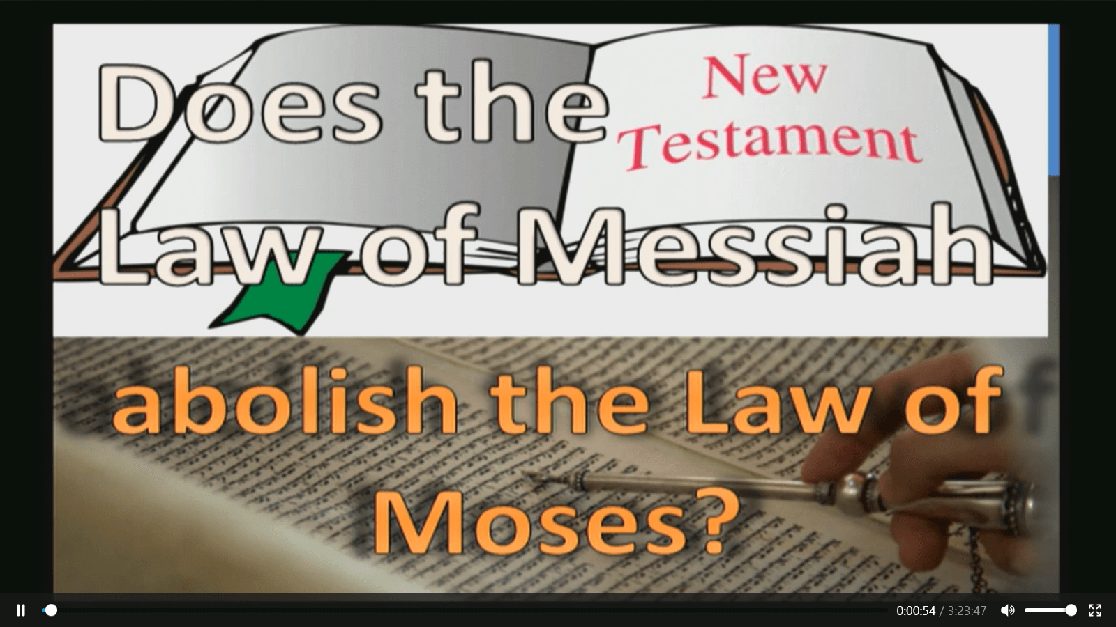 Does the Law of Messiah abolish the Law of Moses? - Part 1 - Study