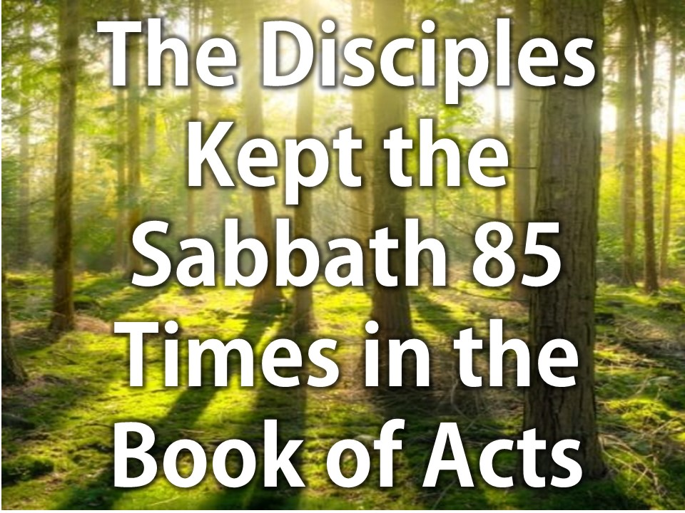The Disciples Kept the Sabbath 85 Times in the book of Acts