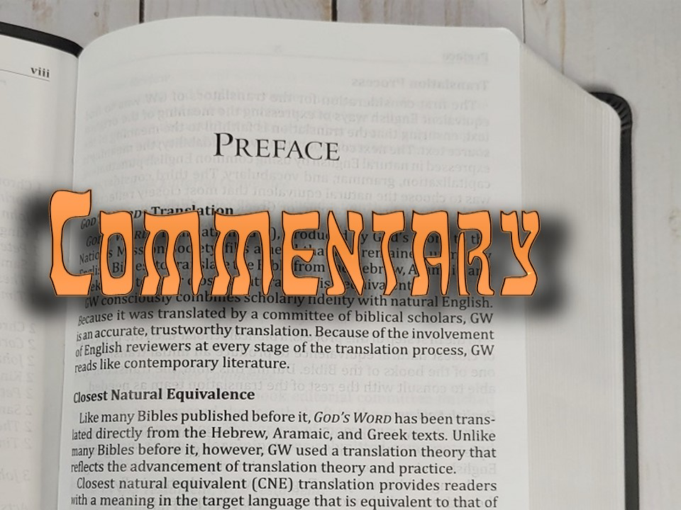 Commentary on Bible Prefaces