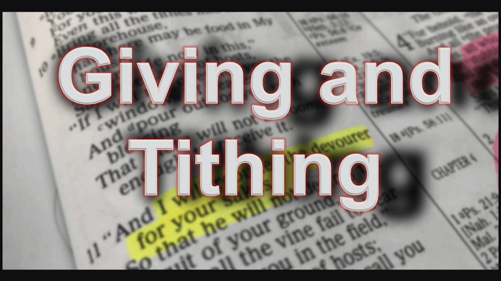 Giving and Tithing – Part 1