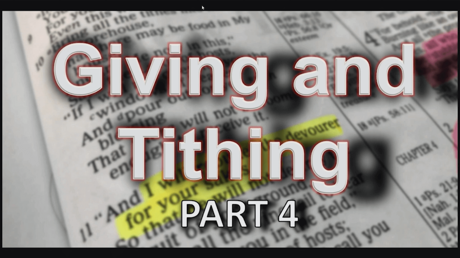 Giving and Tithing – Part 4