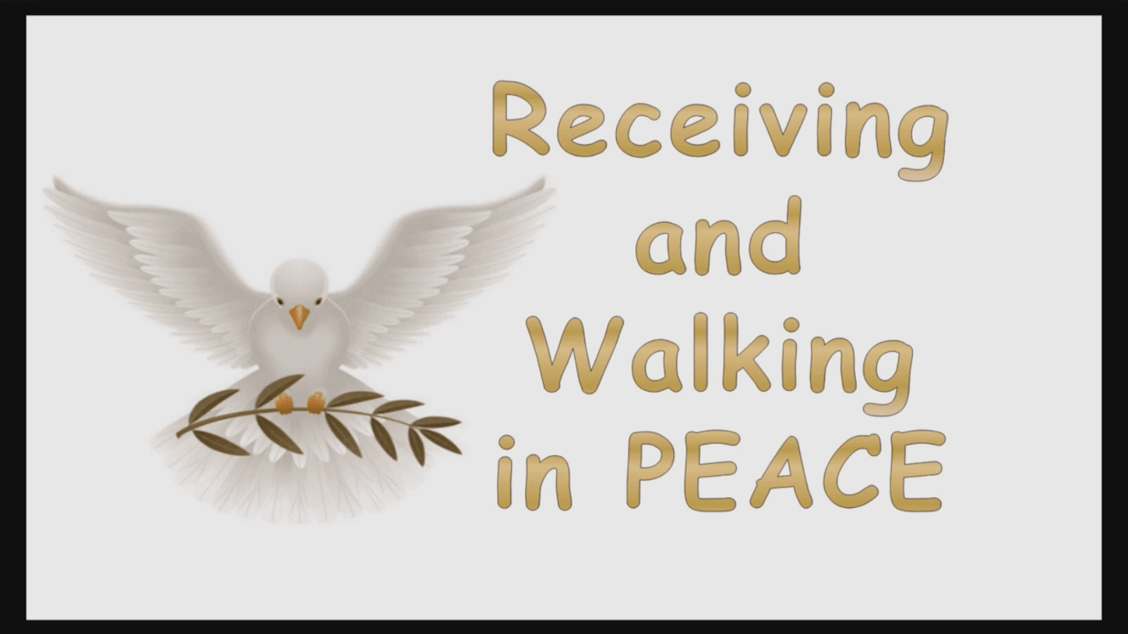 Receiving and Walking in Peace