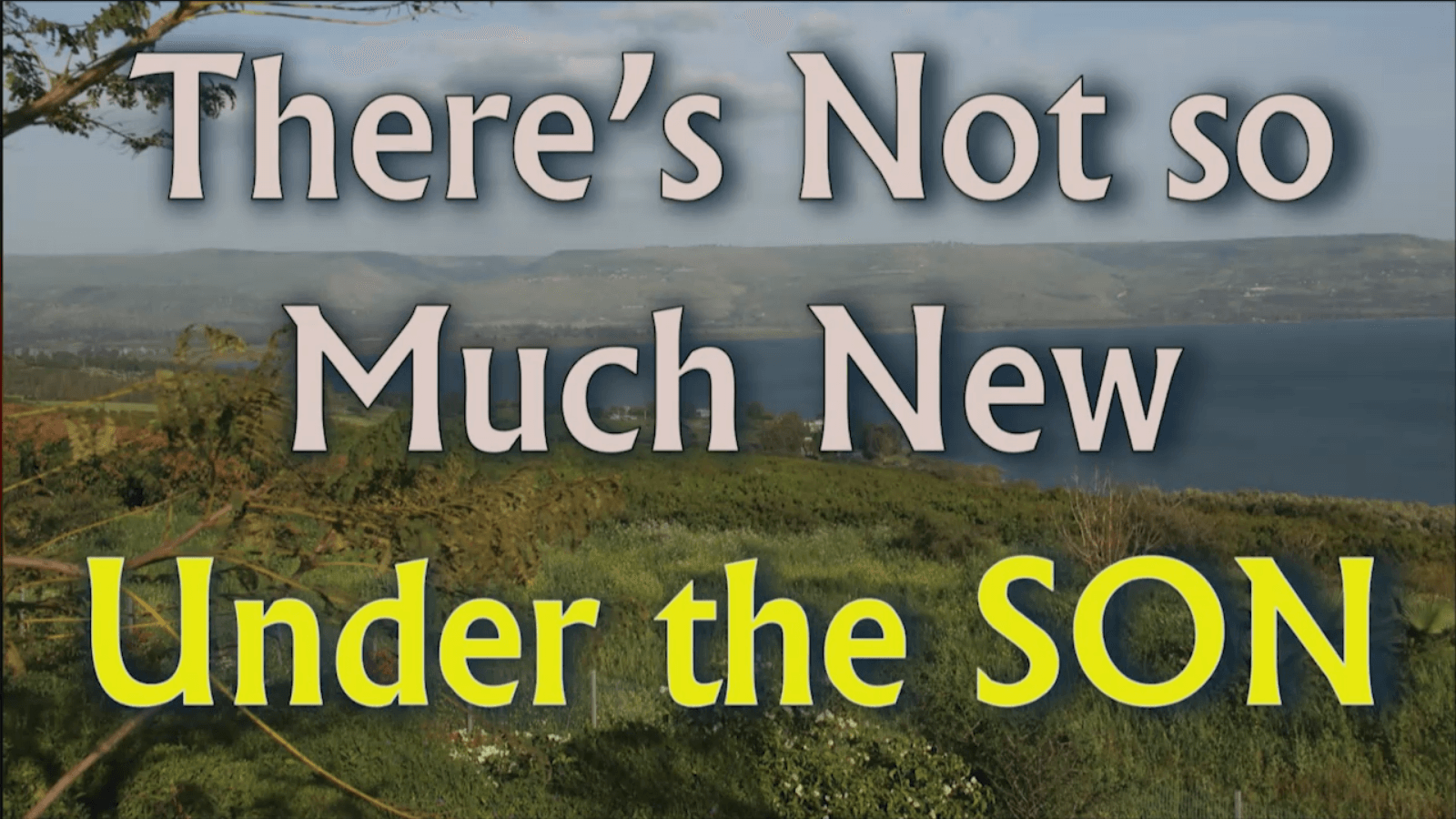 There's Not so Much New Under the SON