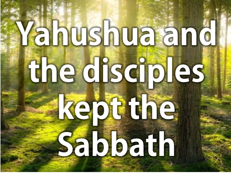 Yahushua and the disciples kept the Sabbath